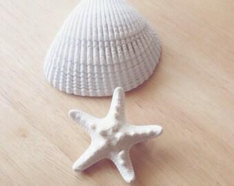 50% OFF SALE Imperfect White Starfish Barrette Mermaid Hair Clip Ocean Sea Beach Ariel Accessories Nautical Girls Womens Gift for Her Summer