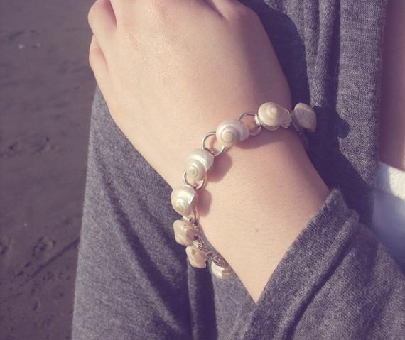 Mermaid Bracelet - Sea Shell Bracelet Seashell Bracelet Beach Bridal Bracelet Beach Bridal Jewelry Beach Wedding Bracelet Nautical Bracelet