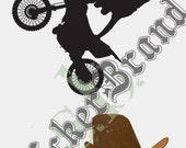 Vinyl Wall Art Decal Sticker Extreme Motorcross Bike 138