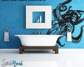 Vinyl Wall Decal Sticker Giant Octopus Item809s
