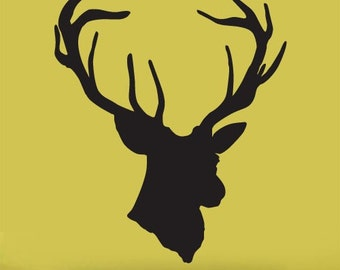 Vinyl Wall Decal Sticker Hanging Deer Head Silhoutte item201A