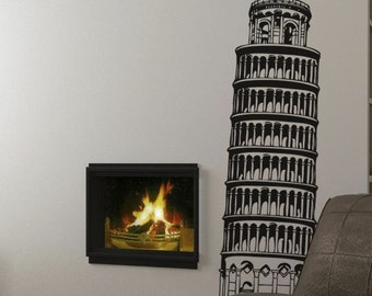 Vinyl Wall Decal Sticker Large Tower of Pisa 69in Tall item 227A