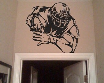 Vinyl Wall Decal Sticker Big Football Player Decoration 245s