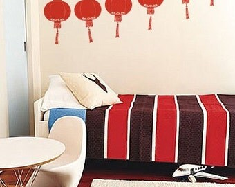 Vinyl Wall Decal Sticker Chinese Lantern Festival 261