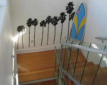 Vinyl Wall Art Decal SoCal California Roll of Palm Trees 7 ft tall item 169A