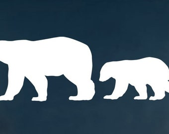 Vinyl Wall Decal Sticker Polar Bear w/ Baby Big Set 217A