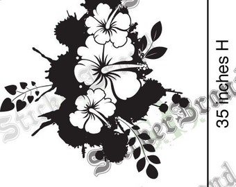 Vinyl Wall Decal Sticker Flower Splat Art 360m