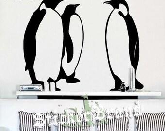 Vinyl Wall Decal Sticker Emperor Penguins Set of 3