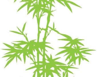 Vinyl Wall Art Decal Sticker Large Bamboo Tree 5ft tall item 101A