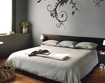 Vinyl Wall Decal Sticker Flower Floral Swirl 310