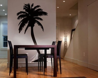 Vinyl Wall Art Decal Sticker Large Palm Tree 6feet tall item 132A
