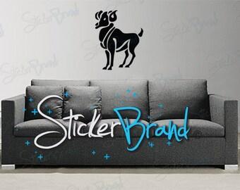 Vinyl Wall Decal Sticker Aries Zodiac Sign 429
