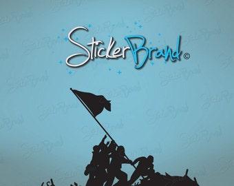 Vinyl Wall Decal Sticker Battle of Iwo Jima Flag Raising 555
