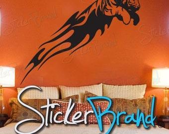 Vinyl Wall Decal Sticker Tiger Tribal 587