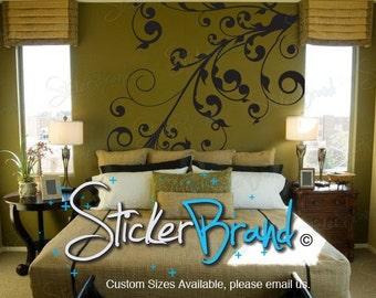 Stickerbrand Vinyl Wall Art Decal Sticker Swirl Floral Curves item 511A