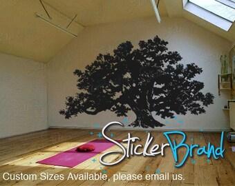 Vinyl Wall Decal Sticker Huge Oak Tree 410B