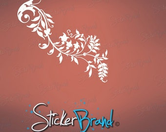 Vinyl Wall Decal Sticker Swirl Flower 685s