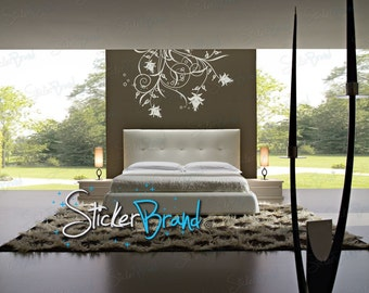 Vinyl Wall Decal Sticker Swirl Flower Circles
