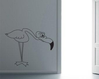Vinyl Wall Art Decal Sticker Flamingo Bent        CBenson103