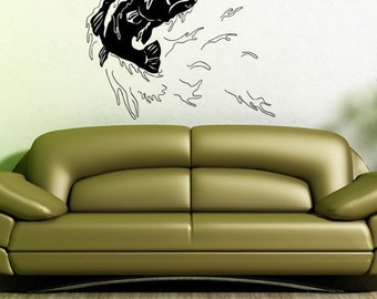 Vinyl Wall Decal Bass Fishing GFoster101