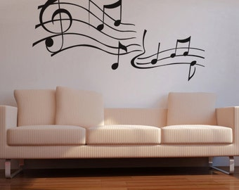 Vinyl Wall Decal Sticker Music Notes KRiley101B