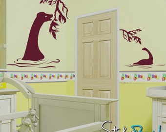Vinyl Wall Decal Sticker Plant Eating Dinosaurs GFoster139s