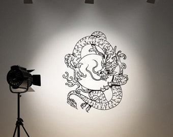 Vinyl Wall Decal Sticker  Chinese Dragon 820s