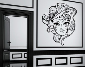 Vinyl Wall Decal Sticker Venitian Mask JH260B