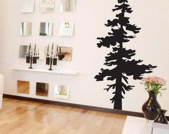Vinyl Wall Decal Sticker Single Pine Tree 187A