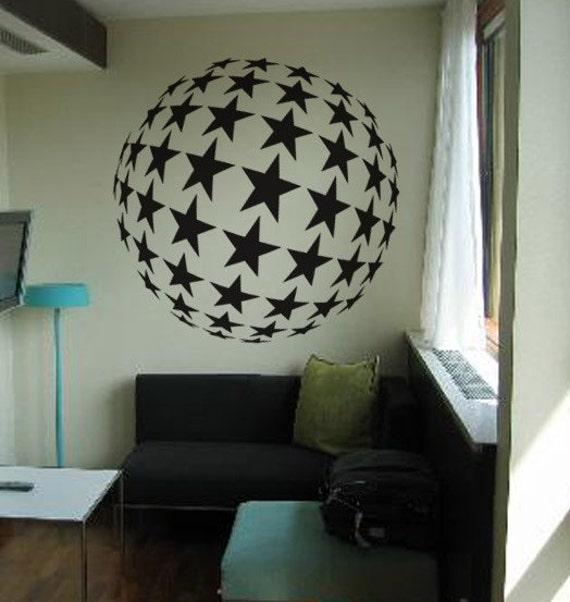 Vinyl Wall Decal Sticker BIG Circle of Stars Disco 257