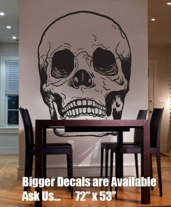 Vinyl Wall Art Decal Sticker Skull Head Bones BIG 72x53 item127B