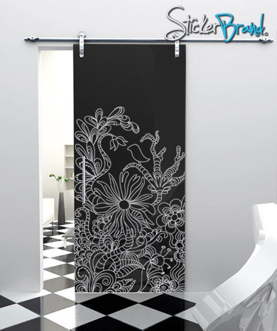 Vinyl Wall Decal Sticker Floral Bird Pattern Design Item783s