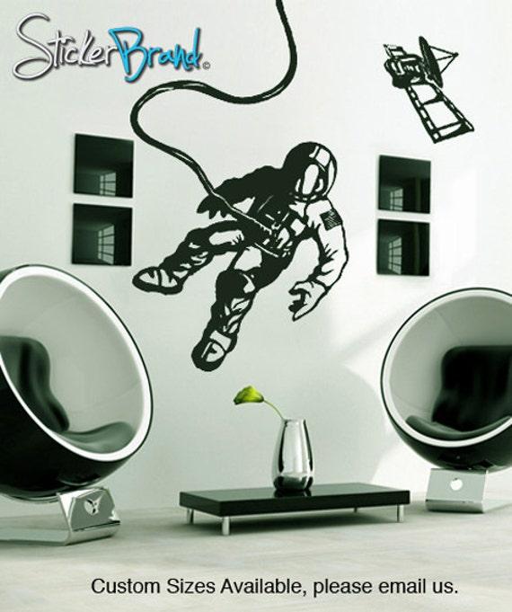 Vinyl Wall Decal Sticker Space Walk Astronaut Satellite    GFoster151s