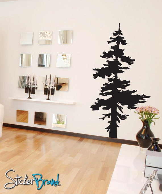 "Vinyl Wall Decal Sticker Single Pine Tree 187-84"" Tall X 44"" Wide"