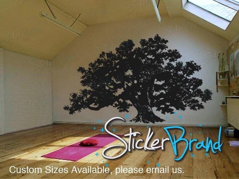 ... Vinyl Wall Decal Sticker Huge Oak Tree 410B. 🔎zoom