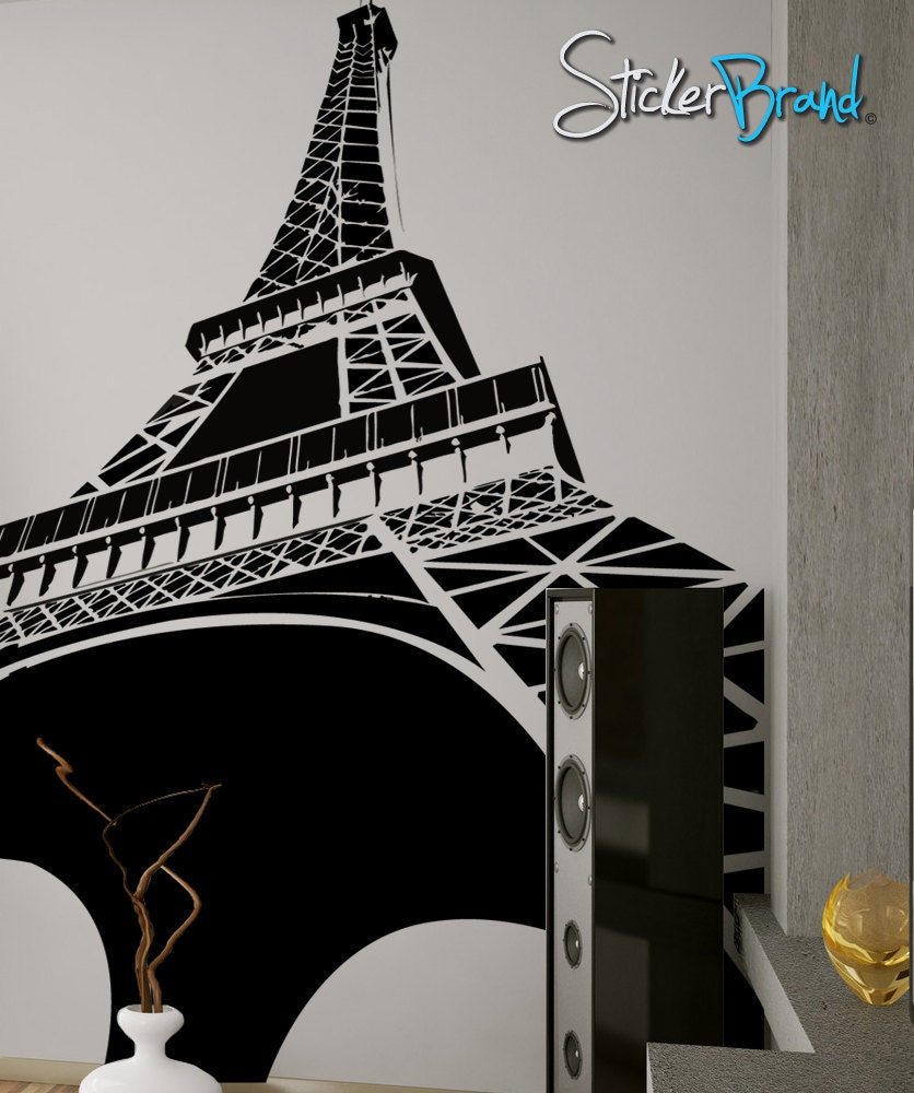vinyl wall decal sticker eiffel tower item osmg102b eiffel tower arch wall decals by couture deco