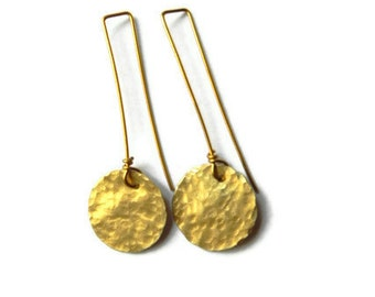 Rustic metal cutout drop earrings, select your shape
