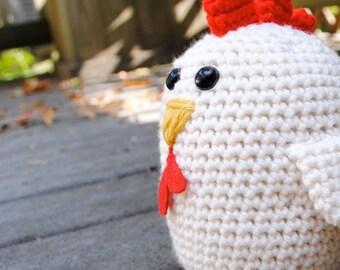 Woolie Chicken Hand Crocheted Plush
