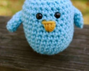Woolie Baby Blue Bird Hand Crocheted Plush
