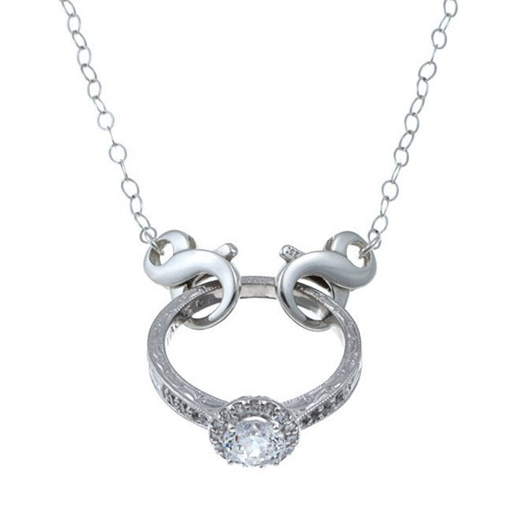 ring my neck the classic for when you cant wear your ring - Wedding Ring Necklace
