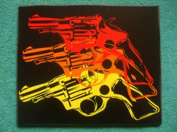 warhol pop gun 2,stencil painting