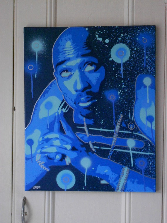 Better Off Dead >> painting of tupac shakur 2pacpray for a brighter daystencils