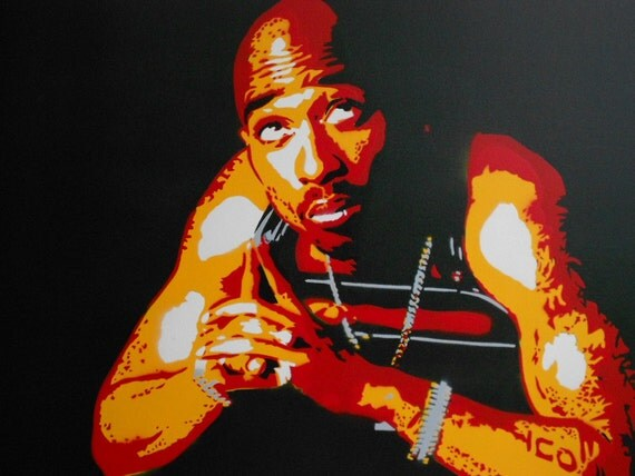 Tupac Shakur Painting 2 Pac Pray For A Brighter Day Stencil