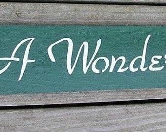 Its A Wonderful Life Inspirational Wood Sign Wall Decor