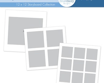 12 x 12 Simple Squares Storyboards (Set 3) for Photographers
