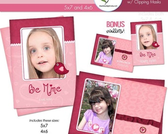 XOXO Valentines Cards Custom Photo 4x6 and 5x7  FREE Wallet Included - Photographer Templates
