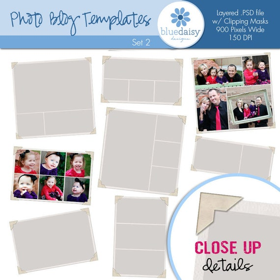 Photo Blog Framed Template Collection (Set 2) - Photographer Resources