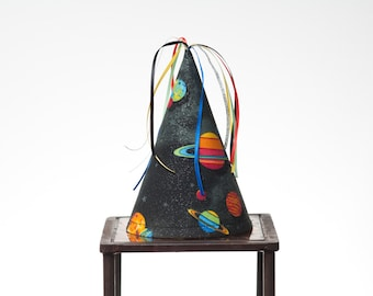 Children/Adult Birthday Hat-Outer Space-Fabric Party Hat-Party Favor