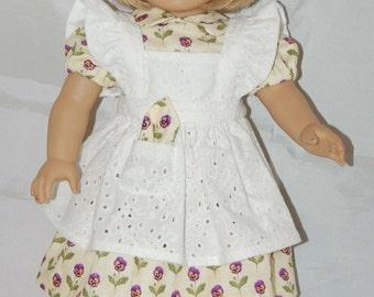 Pansy Print Dress and Pinafore American Girl
