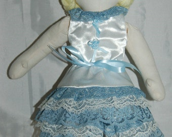 Rag Doll Genevieve in White Satin Top and Pantaloons